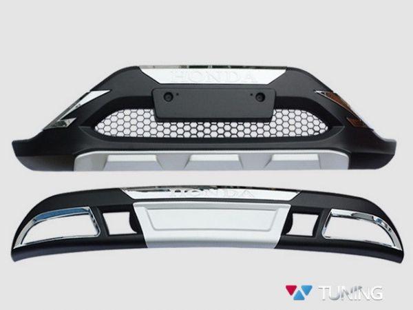 Передняя и задняя накладки пластиковые HONDA CR-V 4 (2012-2014)