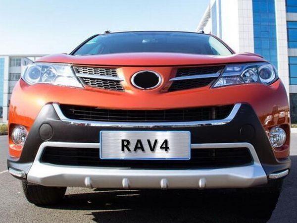 Накладка на передний бампер TOYOTA Rav4 IV (2013-2015) - ABS