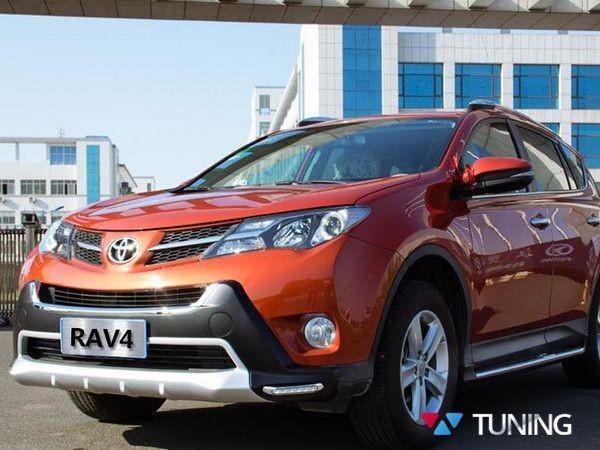Накладка на передний бампер TOYOTA Rav4 IV (2013-2015) - ABS - фото #2