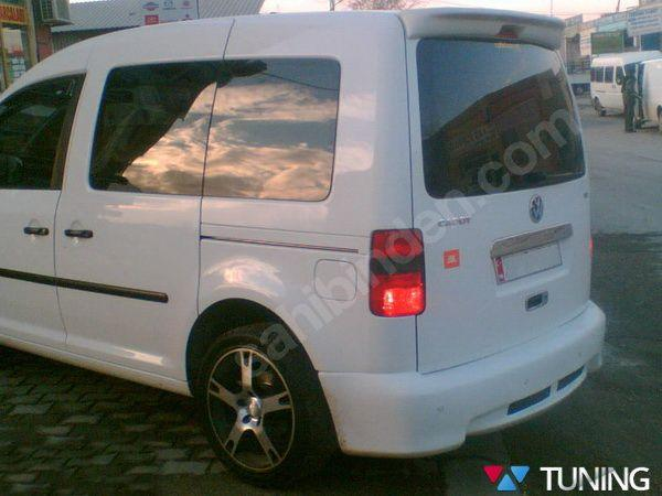 Накладка на задний бампер VW Caddy III (04-14) большая