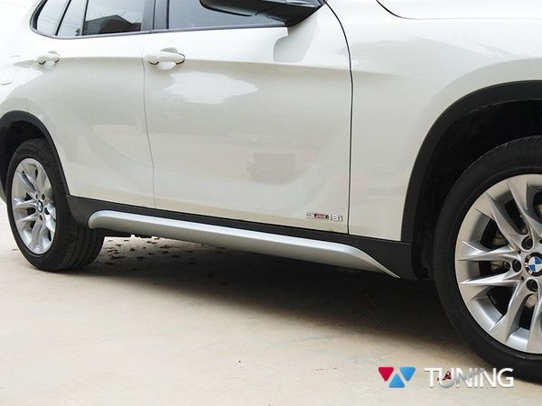 Юбки на боковые пороги BMW X1 E84 (09-15) - X-Line