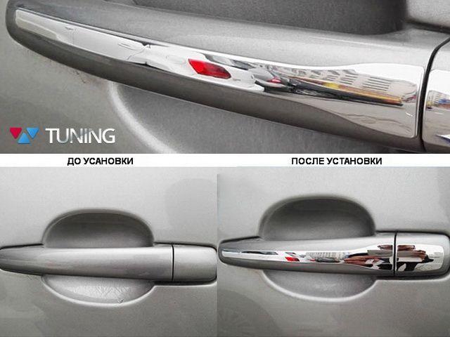 Хром накладки на ручки PEUGEOT 2008 - узкие 2