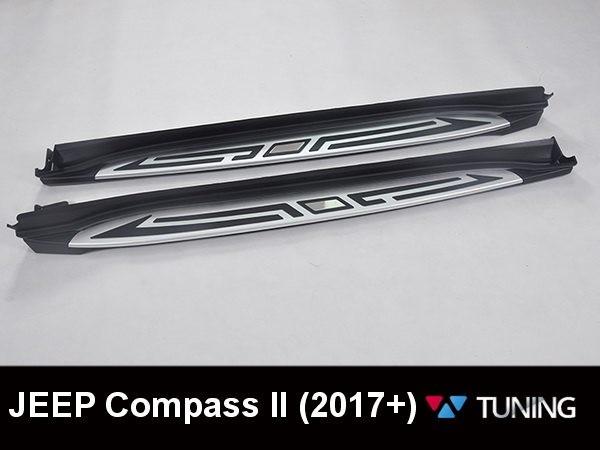 Пороги боковые JEEP Compass II (2017-) - OEM - фото #4