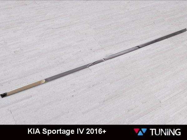 Хром полоса багажника центральная KIA Sportage IV (2016-) - реал фото