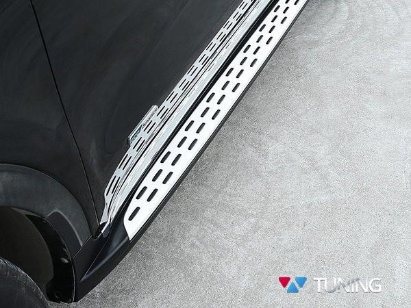 Защита бампера и порогов на Kia Sportage II 2008-2010 | 450x600