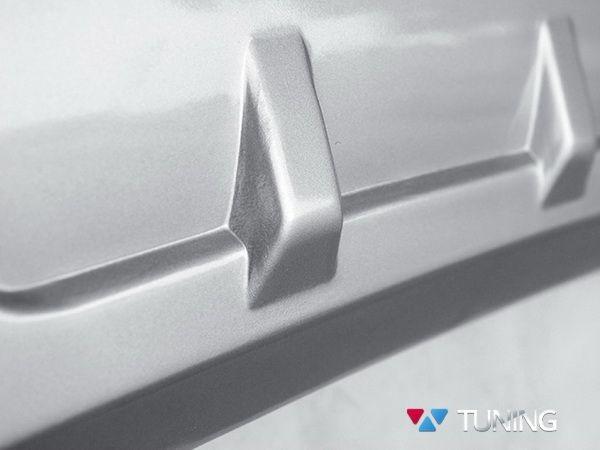 ABS Накладка на зажний бампер KIA Sportage IV (2016-) - серебряные рёбра