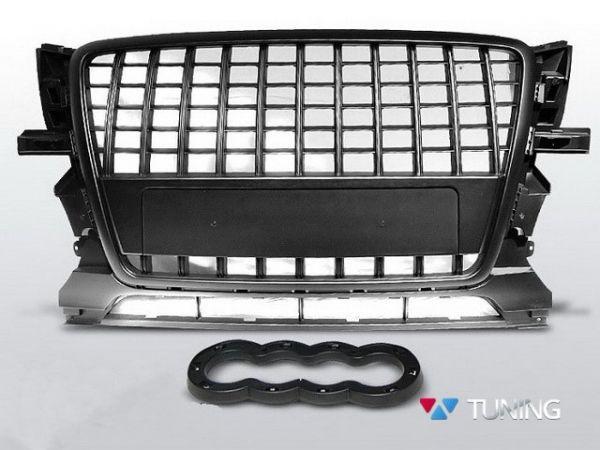 Решётка радиатора AUDI Q5 8R (2008-2012) S-LINE чёрная