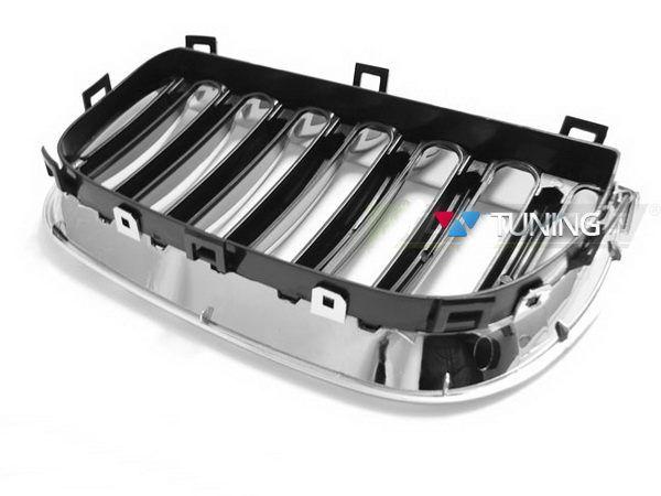 Решётка радиатора BMW X3 E83 (2003-2006) ХРОМ - вид сзади