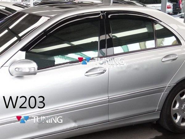 Ветровики (дефлекторы окон) MERCEDES W203 Sedan - HIC 1