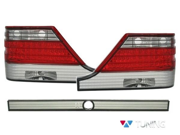 Фонари задние MERCEDES W140 - диодные красно-белые 1