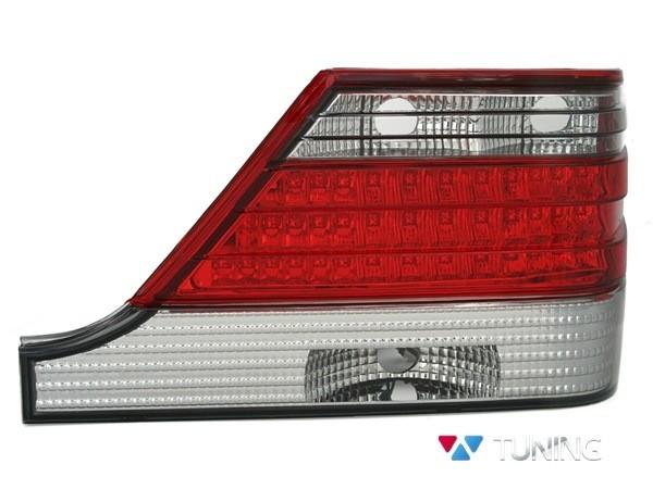 Фонари задние MERCEDES W140 - диодные красно-белые 2