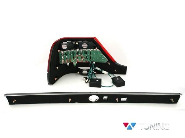 Фонари задние MERCEDES W140 - диодные красно-белые - вид сзади
