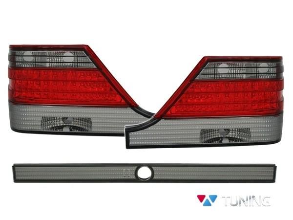 Фонари задние MERCEDES W140 - диодные красно-дымчатые 1