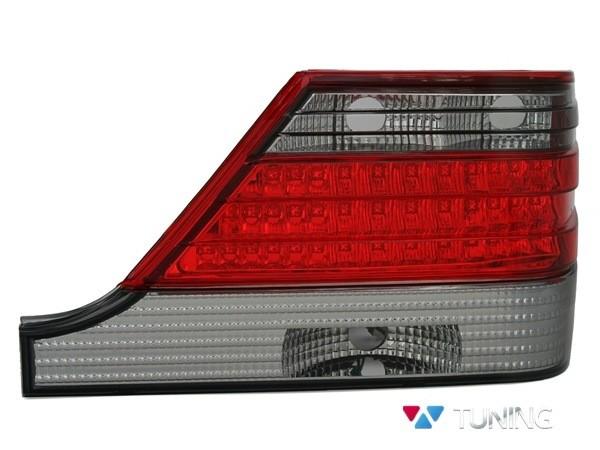 Фонари задние MERCEDES W140 - диодные красно-дымчатые 2