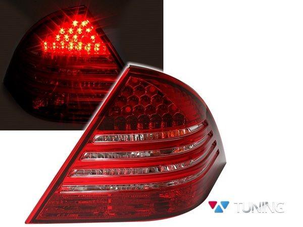 Фонари задние MERCEDES W203 Sedan - диодные красно-белые 1