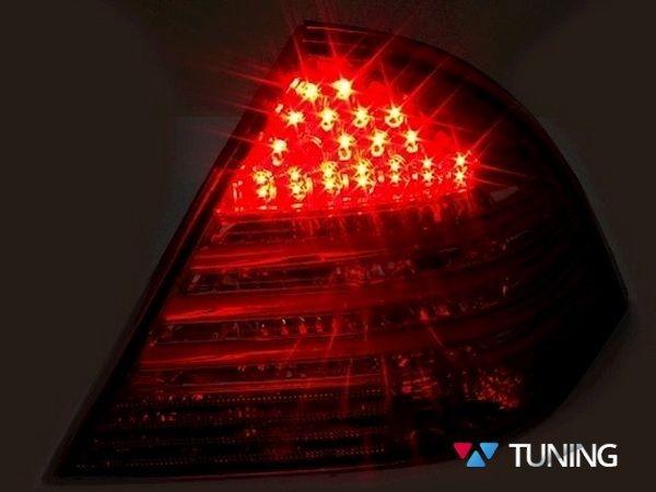 Фонари задние MERCEDES W203 Sedan - диодные красно-белые 3