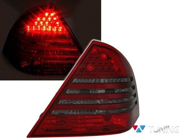 Фонари задние MERCEDES W203 Sedan - диодные красно-дымчатые 1