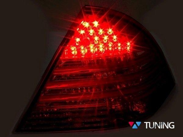 Фонари задние MERCEDES W203 Sedan - диодные красно-дымчатые 3