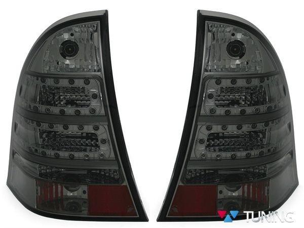 Фонари задние MERCEDES W203 Combi - дымчатые диодные 2
