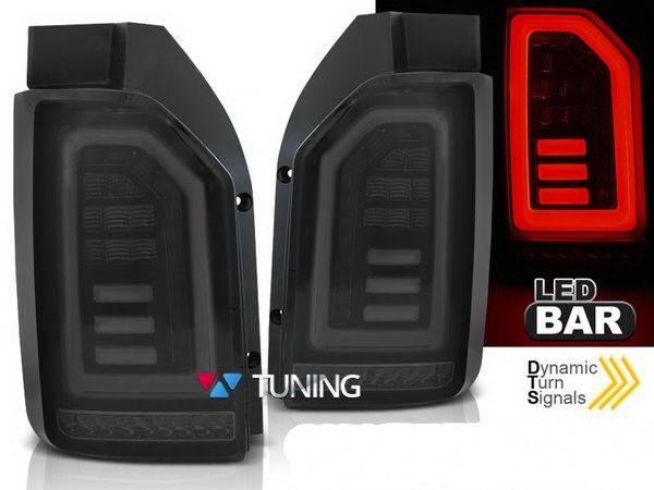 Задние фонари VW T6 (2015-) ляда - чёрные диодные