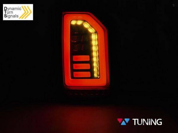 Задние фонари VOLKSWAGEN T6 (2015-) ляда - чёрные диодные - фото #3