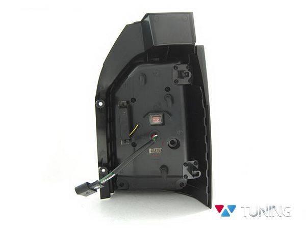 Задние фонари VOLKSWAGEN T6 (2015-) ляда - чёрные диодные - вид сзади