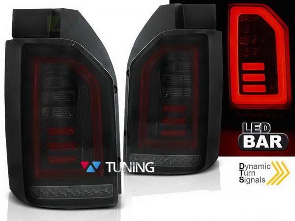 Задние фонари VW T6 (2015-) ляда - красно тонированные диодные