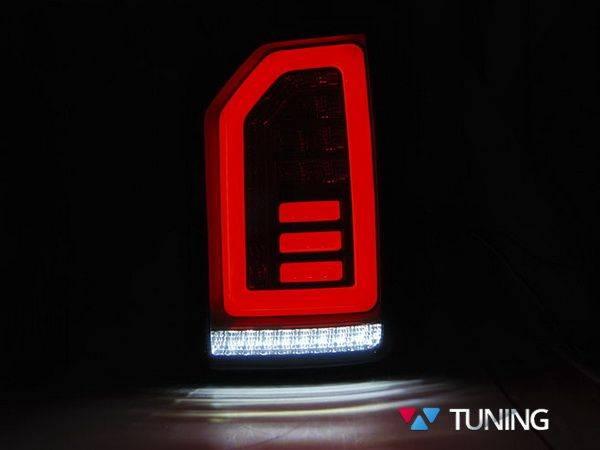 Задние фонари VW T6 (2015-) ляда - красно тонированные диодные - фото #2