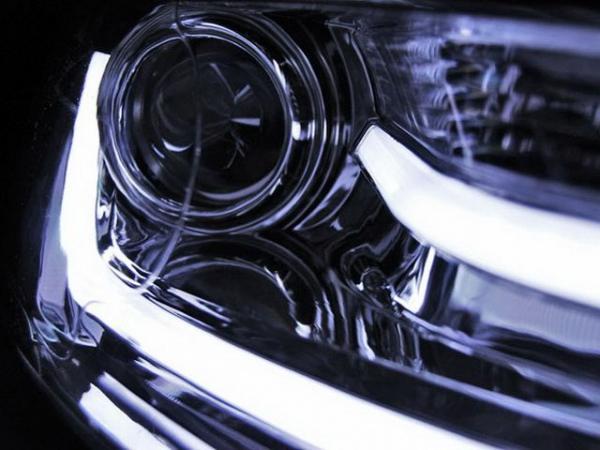 Фары хром VW Jetta A6 (2011-) диодные трубки