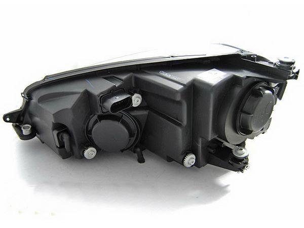 Фары VW Golf 7 (2012+) - U-тип DRL чёрные LED-повороты 4