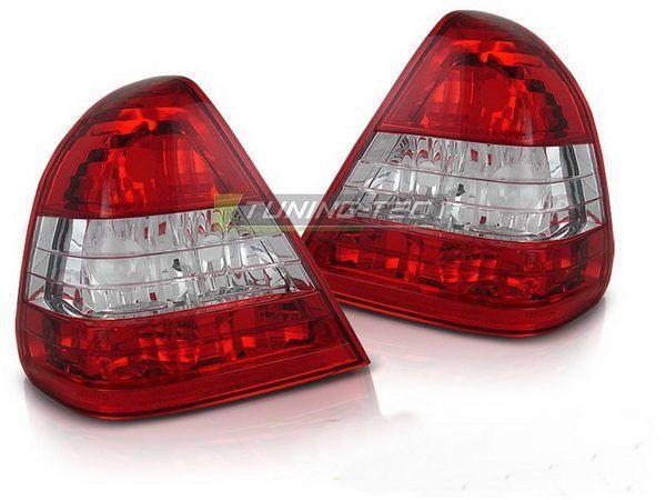 Фонари задние MERCEDES W202 Sedan - красно-белые 2