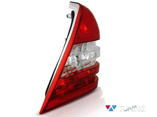 Фонари задние MERCEDES W202 Sedan - красно-белые 3