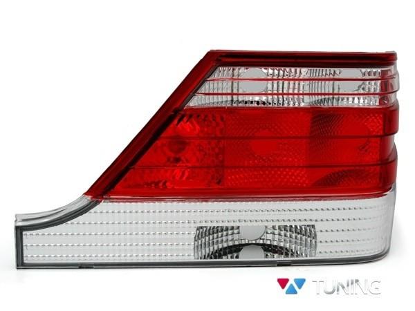 Фонари задние MERCEDES S W140 - ламповые красно-белые 2