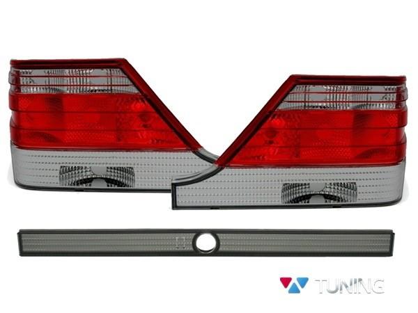 Фонари задние MERCEDES S W140 - ламповые красно-дымчатые 1