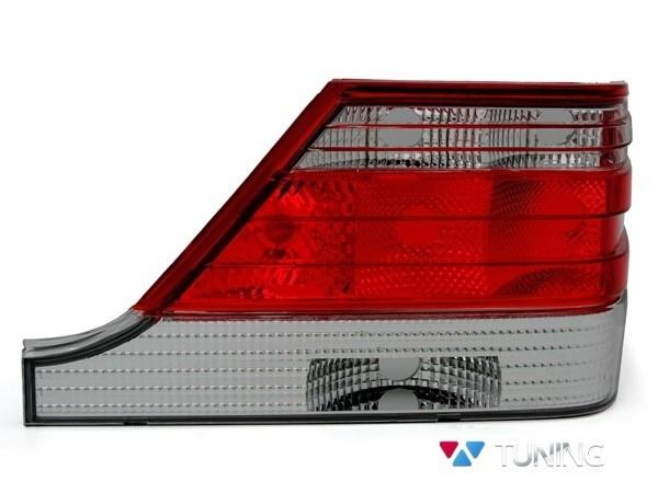 Фонари задние MERCEDES S W140 - ламповые красно-дымчатые 2