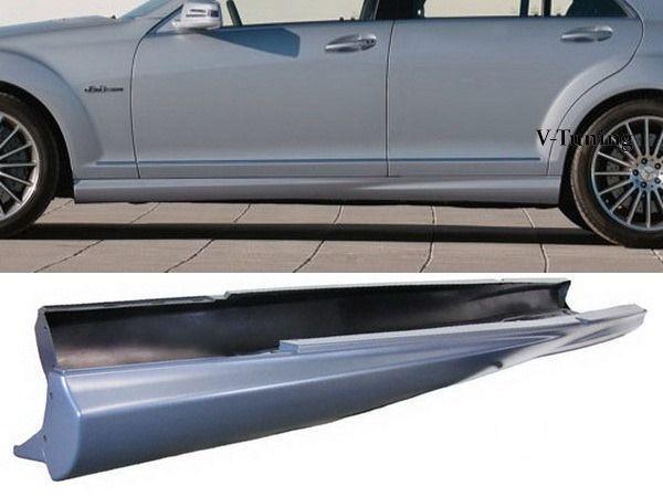 Пороги боковые MERCEDES S W221 Long - S63 AMG стиль 1