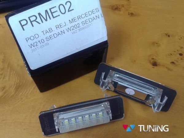 Подсветка номера LED MERCEDES W210, W202 Sedan 4