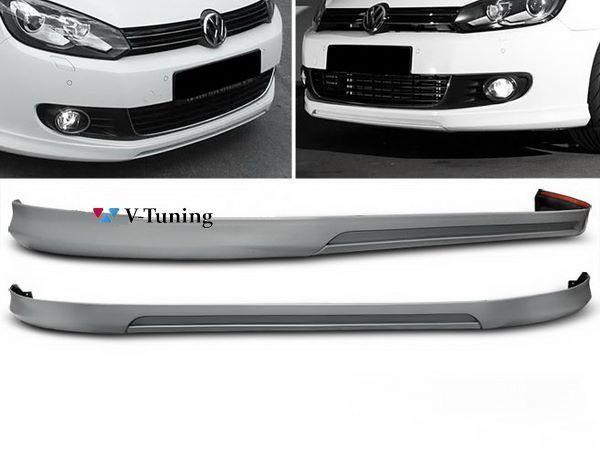 Накладка на передний бампер VW Golf 6 VI (08-12) - VOTEX стиль 1