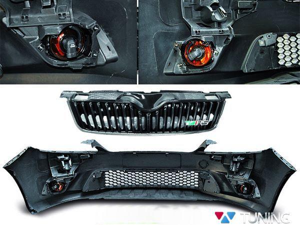 Бампер передний SKODA Fabia II (2010-) - RS стиль 3