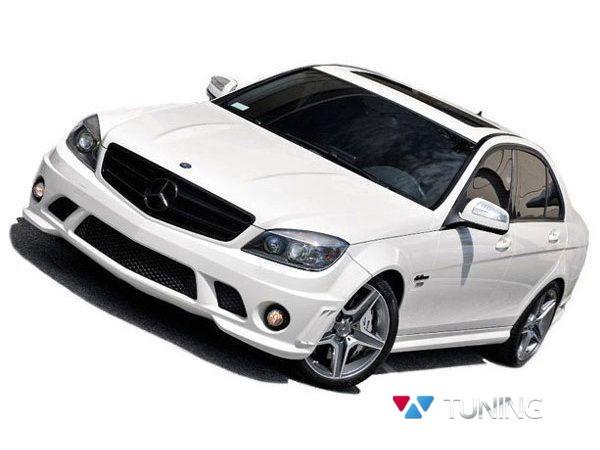 Бампер передний MERCEDES W204 (2007-2010) - AMG стиль 3