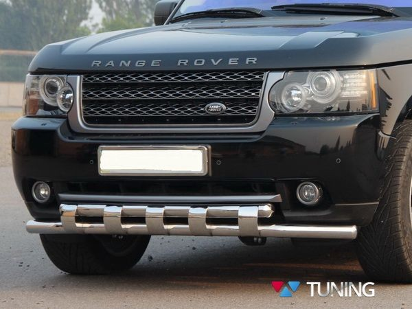 Защита передняя Range Rover III Vogue (2002-2012) - дуга зубьями