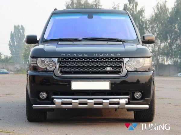 Защита передняя Range Rover III Vogue (2002-2012) - дуга зубьями - фото 3