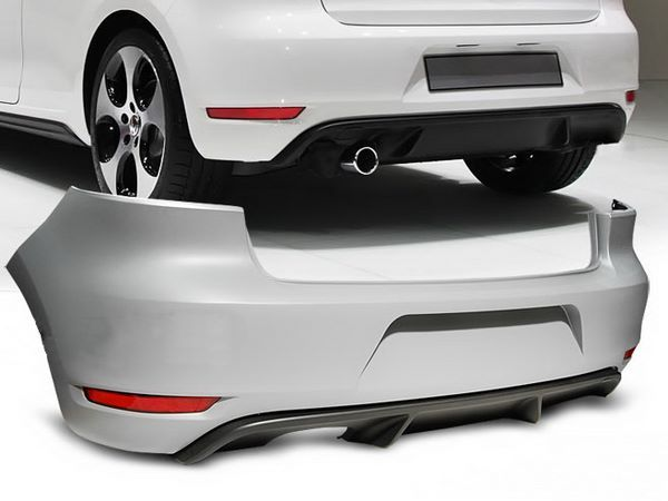 """Бампер задний VW Golf VI HB """"GTI STYLE"""" один выхлоп без АПС"""