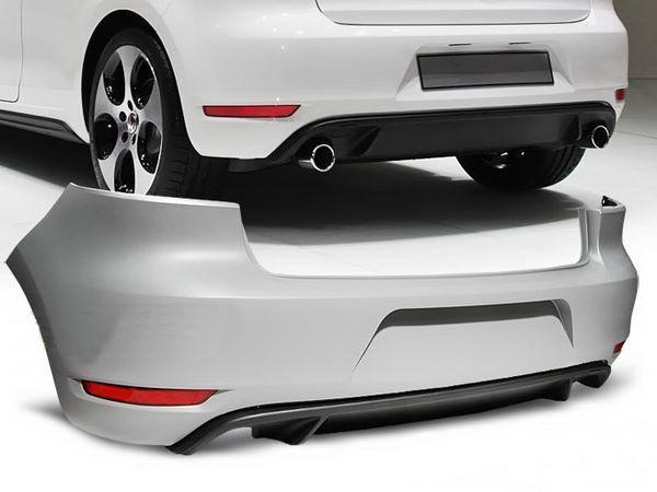 """Бампер задний VW Golf VI HB """"GTI STYLE"""" два выхлопа"""