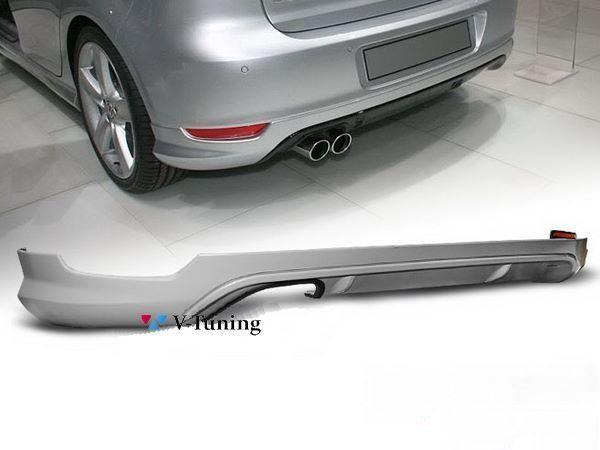 """Диффузор задний VW Golf VI (08-12) HB """"VOTEX"""" ABS"""