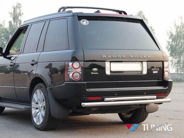 Защита заднего бампера Range Rover III Vogue (02-12) - дуга двойная - фото 4