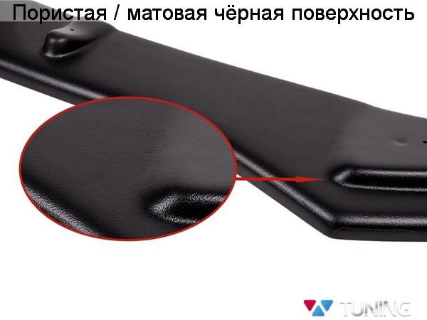 Сплиттер под передний бампер VW Jetta A6 GLI (2011-) - чёрный мат