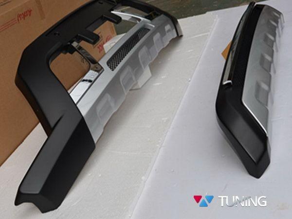 Накладки передняя и задняя MITSUBISHI Pajero Sport II (13-15) рестайлинг - фото 2