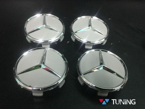 Колпачки в оригинальные диски MERCEDES W169 - звёзды хром 2