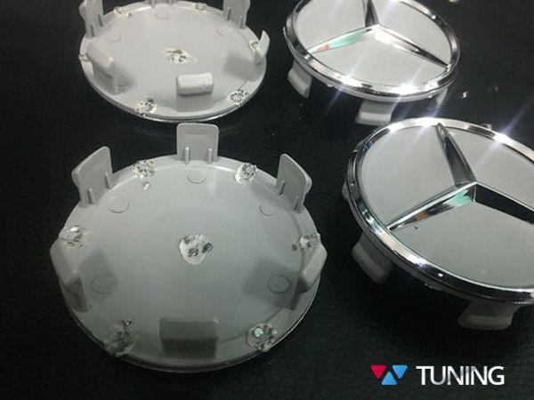Колпачки в оригинальные диски MERCEDES W169 - звёзды хром 3
